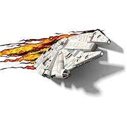 3d Deco Light Fx Lampada da Parete Disney Star Wars with Crack Sticker con Adesivi Millennium Falcon