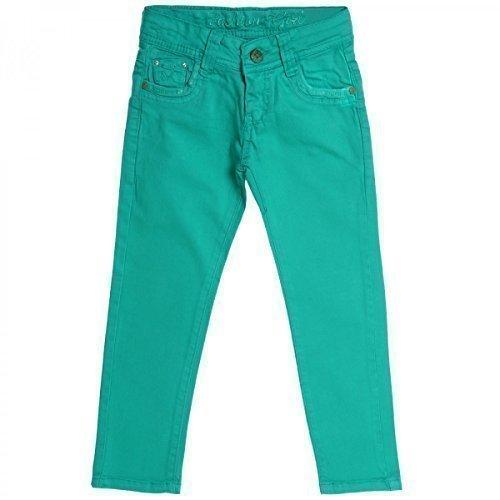 Mädchen Kinder Jeans Hose Röhre Straight Fit Skinny Sommer Stretch Bootcut 20354, Farbe:Grün;Größe:116 (Grün Jeans Kinder)