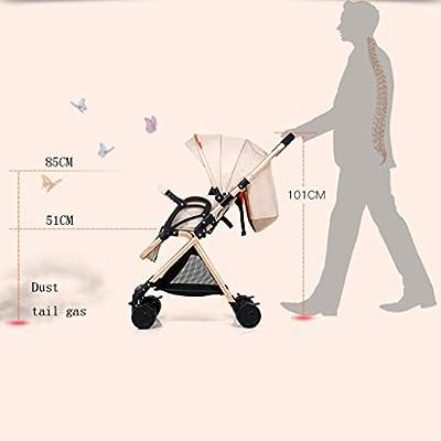 YC electronics Sillas de Paseo Alto Paisaje Altura Ajustable Aleación de Aluminio Paraguas para niños Sillones de bebé portátiles ultraligeros Sillas Ligeras