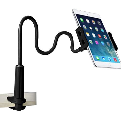 MM456 Tablet-Halterung mit Schwanenhals, Tablet-Halterung für iPad/iPhone Serie, Nintendo Switch, Samsung Galaxy Tabs, Amazon Kindle Fire HD und mehr, Schwarz .20cm/7.87 -