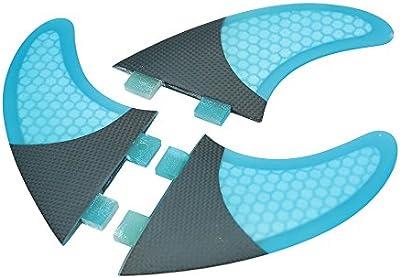 MagiDeal 3pcs Juego De Fibra De Carbono Core SUP Tabla de Surf Aletas Accesorios de Deportes