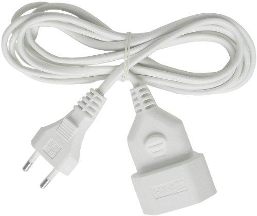 Brennenstuhl Kunststoff-Verlängerungskabel (für den Innenbereich, 5m Kabel, mit Euro-Stecker und Kupplung) weiß -