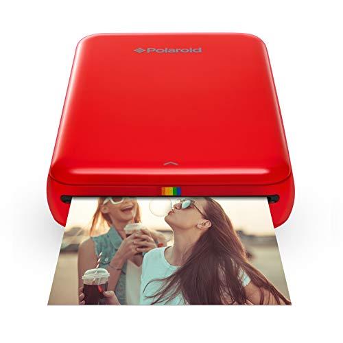 Polaroid Zip - Imprimante Équipée de la Technologie d'Impression sans Encre Zink, 5 X 7,6 cm, Micro USB, Bluetooth, Compatible avec iOS et Android, Rouge