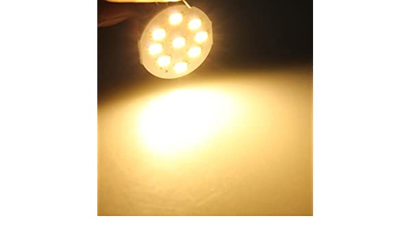 DC 12V Lights Bulbs Car G4 Warm White 9 LED 5630 SMD Marine Cabinet Light Bulb