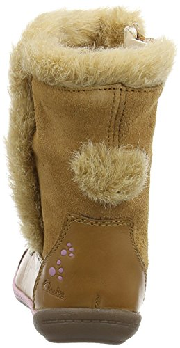 Clarks Kids Iva Hop Fst, Bottes fille Marron (Tan Leather)