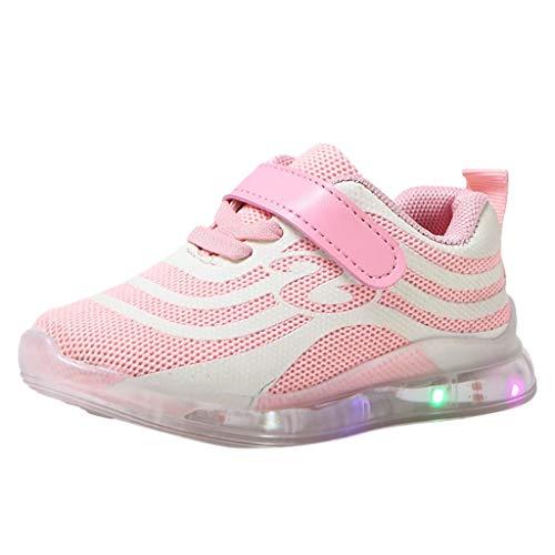 Sneakers Bambini Scarpe Sportive per Ricarica USB Scarpe Colorate con luci a LED
