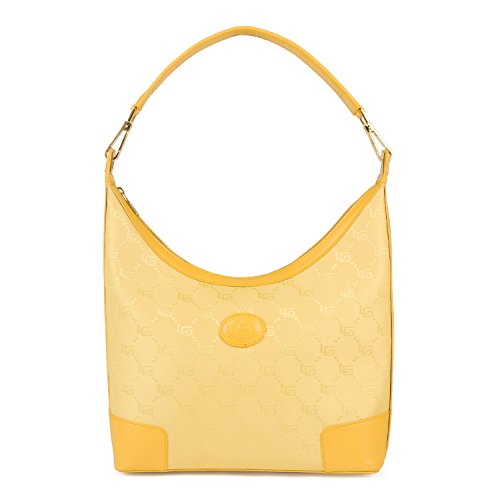 Luigi 81460, Borsa a spalla donna Giallo (giallo)