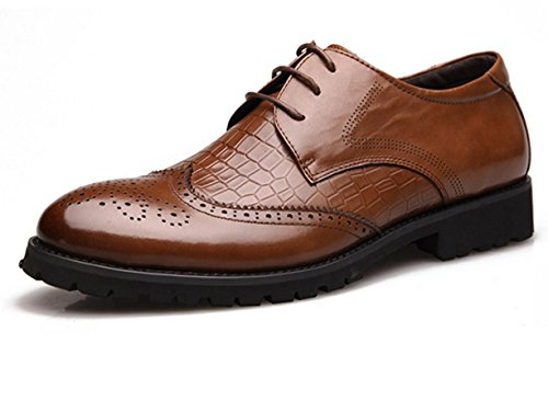 55ebd0c56ad ... WZG Die neuen Männer das Geschäft Kleidung Schuhe Bullock Schuhe  Krokodillederschuhe Brautschuhe schwarz 9.5 Männer geschnitzt