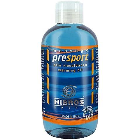 Hibros Presport olio riscaldante 200 ml - Olio Sport