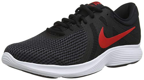 Nike Nike Revolution 4 Eu Scarpe da Ginnastica Basse Uomo, Multicolore (Black/University Red/Oil...