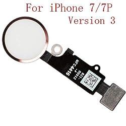 Mobofix Home Taste Home Button Hauptschlüssel Ersatz für iPhone 7 7 Plus Flex Cabel (Version 3.0 Roségold)