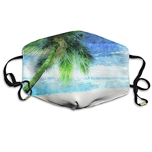 SDGSS Mouth Maske,Palm Tree Face Mask, Reuseable Polyester Face Mouth Mask Respirator Cycling Anti Dust Unisex Men Women Boys