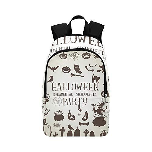 Set Silhouetten Halloween Party Casual Daypack Reisetasche College School Rucksack für Herren und Frauen