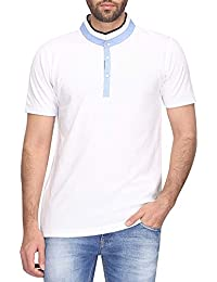 STOP To Start By Shoppers Stop Mens Polo Neck Solid T-shirt