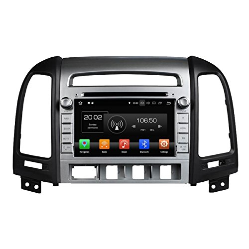 2 Din Android 8.0 OS Autoradio für Hyundai Santa Fe 2006 2007 2008 2009 2010 2011 2012,DAB+ Radio 8 Core 1.5G Cortex A53 CPU 32G Flash und 4G DDR3 RAM GPS Navigation Radio DVD ()