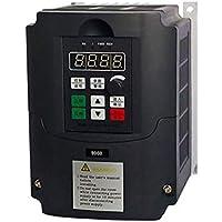 380V 2.2KW Inversor de frecuencia, monofásico Convertidor de frecuencia de 3 fases de salida del convertidor de velocidad ajustable de frecuencia de accionamiento del inversor, para el motor de 3 fases