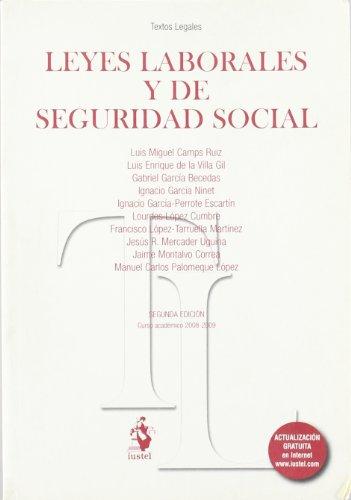 Leyes Laborales y de Seguridad Social (Textos Legales (iustel))