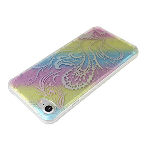 Souple Housse iPhone 7 Transparent, Etui iPhone 7 TPU, Coque iPhone 7 Silicone Case, Moon mood® Soft Gel TPU Bumpour Case Cover pour Apple iPhone 7 Protection Housse Coquette Gel Coque Ultra Mince Tel Style-3