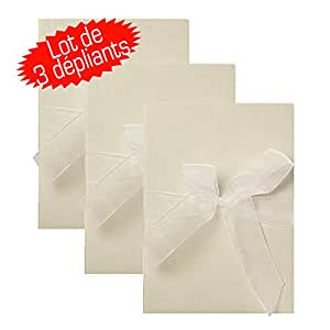 Lot de 3 Dépliants Blanc pour 12 photos 10x15 cm