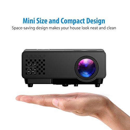 Mini Proyector Full HD Mpow Proyector Portáti 1080P 1200 Lúmenes con Interfaz de Entrada HDMI VGA AV y USB Mini proyector Perfecto para Jugar PS4 Videojuegos y Ver Fútbol Películas en Hogar