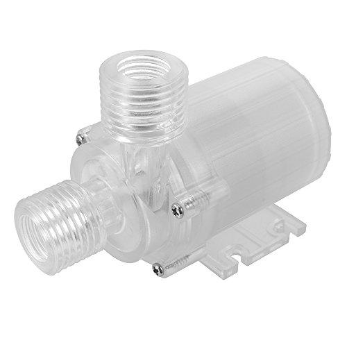 XCSOURCE 12V DC Brushless pompa dell'acqua di azionamento del motore Muto centrifuga della pompa del liquido di immersione 480L / H, 3m / 9.8ft (trasparente) TE648