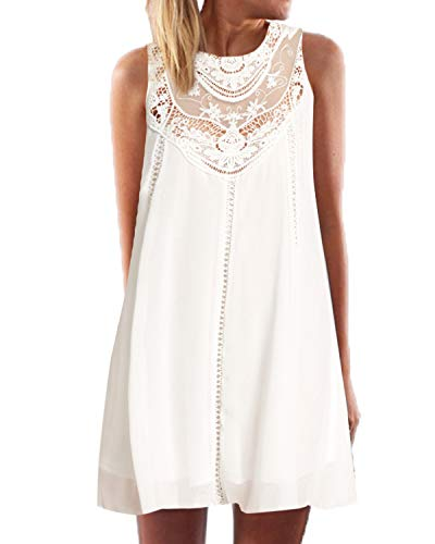 41c019a3bb079 YOINS Sommerkleid Damen Kurz Sexy Kleid Elegant Strandkleid Schulterfrei  Blumenmuster Ärmellos Minikleider