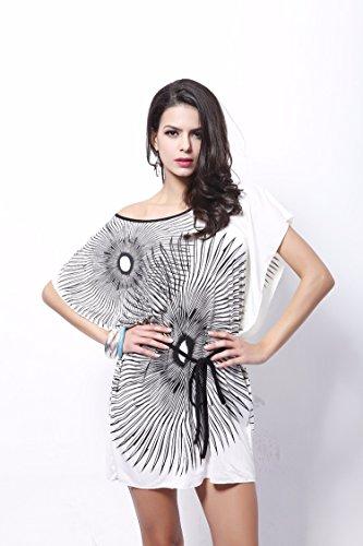 Qiyun 3008s0111–Robe pour femme Blanc