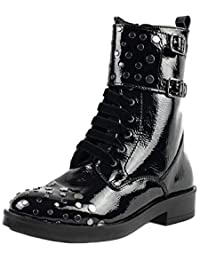 Tronchetto Di Natale Wiki.Amazon It Stivali In Vernice Stivali Scarpe Da Donna Scarpe E