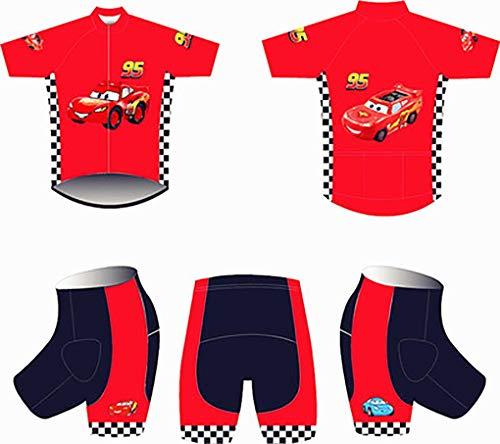 inder Cartoon Kurzarm + Shorts Roller Skating Kleidung Radtrikots für Jungen Radsport-Skinsuit-Trikots Sets ()