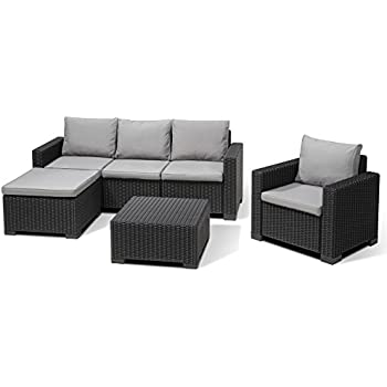 Allibert Lounge-Set Moorea 4tlg, graphit/cool grey