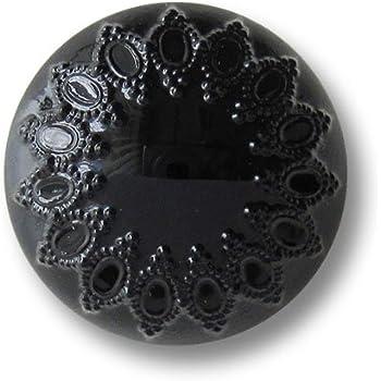 4343ps 5 kleine schwarz graue Kunststoff Ösen Knöpfe mit Perlmutt Schimmer