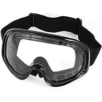 sourcingmap® Nero Integrale Telaio Lente Trasparente Mountain Occhialini Da Sci Occhiali da sole per Unisex
