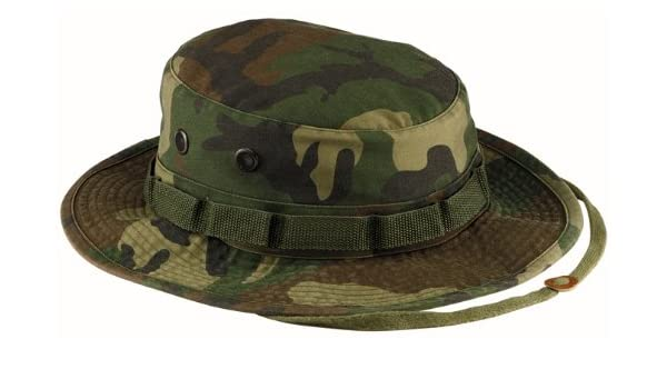 0474f5ebf96 Boonie Hat Bush Hat Jungle US Army Commando Trooper – Colour Woodland  Camouflage – Size Large – Airsoft – Paintball – Hunting – Fishing – Hiking  – Outdoor