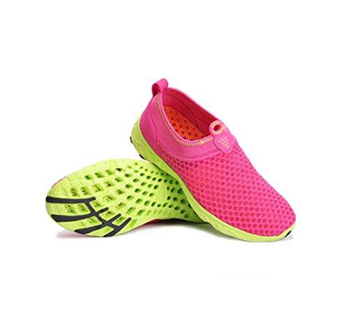 Chaussure de sport pour amoureux randonné adulte mixte basket mode homme femme paresseux léger Rouge