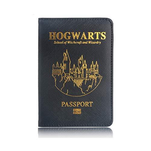 Harry Reisepass Hülle, Reisepass Schutzhülle - Premium Kunstleder Reisepasshülle Halter Blockier für Kreditkarten, Ausweis und Reisedokumente