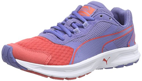 Puma  Descendant v3 Jr, Sneakers Basses mixte enfant Multicolore (cayenne-bleached denim-cayenne 02)