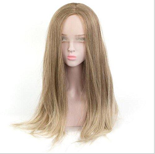 Perruque Blonde Lace Front Perruque 26 Pouces Perruques pour les Femmes Longue Droite Brun Clair Perruque avec Cap Perruque pour Quotidien