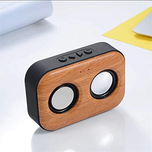 LDQLSQ Tragbarer Lautsprecher Bluetooth-Box Freisprechen Wasserdicht Drahtloser tragbarer Kartensubwoofer-Computer Drahtloser Mini-Außenlautsprecher,Yellow