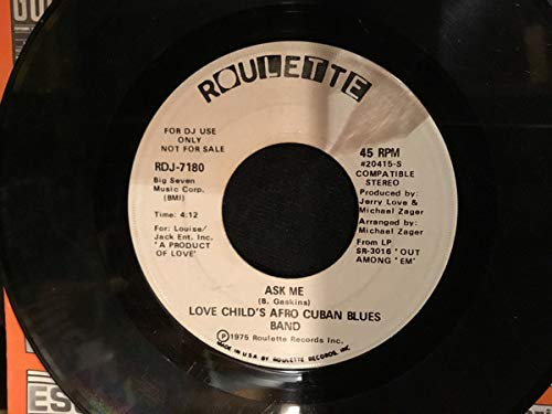Black Skin Blue Eyed Boys [Vinyl Single 7''] Roulette Blue Band