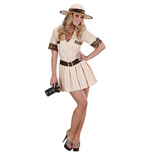 dschungel kostuem damen NET TOYS Sexy Safari Kostüm Dschungel Damenkostüm M 38/40 Forscher Dschungelkostüm Wildnis Safarikostüm Pfadfinder Afrika Kleid Urwald Entdecker Faschingskostüm Karnevalskostüme Damen