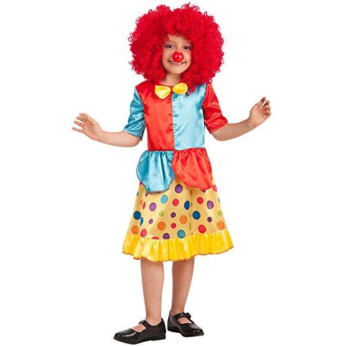 Carnival Toys-Disfraz payaso para bebé para niños, multicolor, talla única, 66005