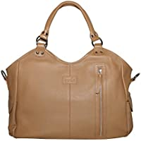 Image of Isoki Hobo Angel Brown Leather Nappy Changing Bag - Comparsion Tool