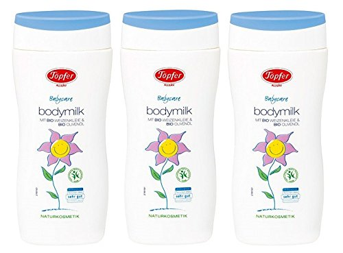 Töpfer Babycare Bodymilk Lotion, 3er pack (3 x 200ml)