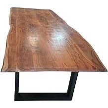 comedor de tronco mesa algodn borde acacia madera maciza mesa comedor mesa - Mesas De Madera Maciza