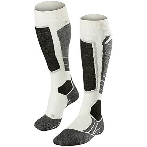 FALKE calcetín de esquí para mujer SK 2, otoño/invierno, mujer, color Blanco - grisáceo, tamaño 39-40