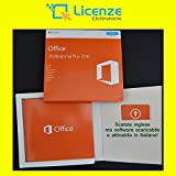 Office 2016 Professional Plus Box - Box Originale - Sigillato - Card con COA (certificato Licenza) Originale e Olograma - Attivazione Online Italiano