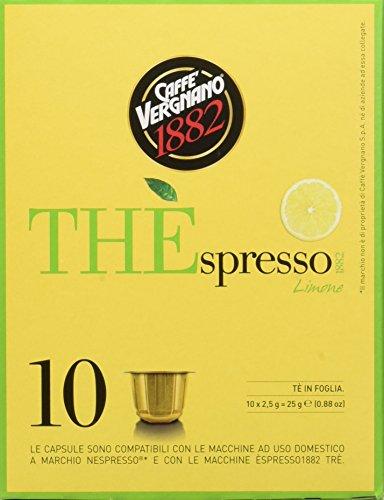 Caffè Vergnano 1882 THÈspresso1882 Limone - Compatibili Nespresso [3 confezioni da 10 capsule- totale 30 capsule]