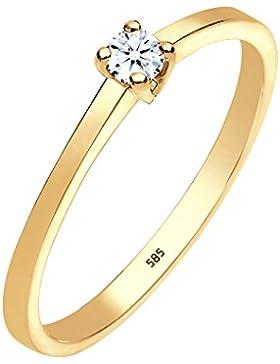 Diamore Damen Ring 585 Gelbgold Diamant 0,10 ct