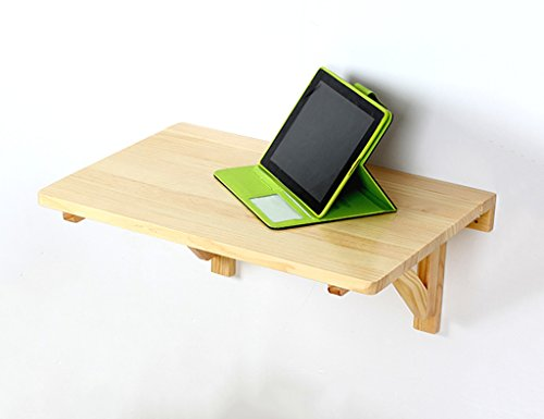 SUBBYE Bureau Mural en Bois Massif Table Pliante Table À Manger Table D'ordinateur Bureau Table À Manger Murale (Taille : 60cm*40cm)