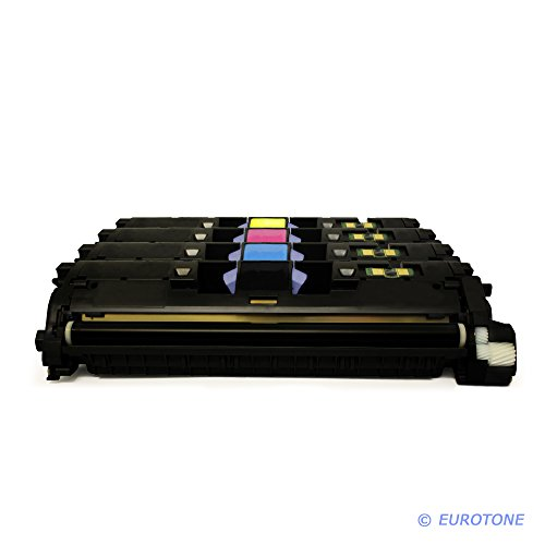4er SET Alternativer Eurotone Toner remanufactured für HP Color Laserjet 1500 2550 L LN N TN + 2820 2840 N AIO - kompatibel ersetzt Q3960A Q3961A Q3962A Q3963A (Set Q3963a)